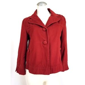 Ann Taylor Size M Rust Colored Jacket Cropped